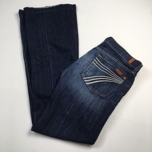 7 For All Mankind DOJO Flare Dark Wash Jean Sz 28